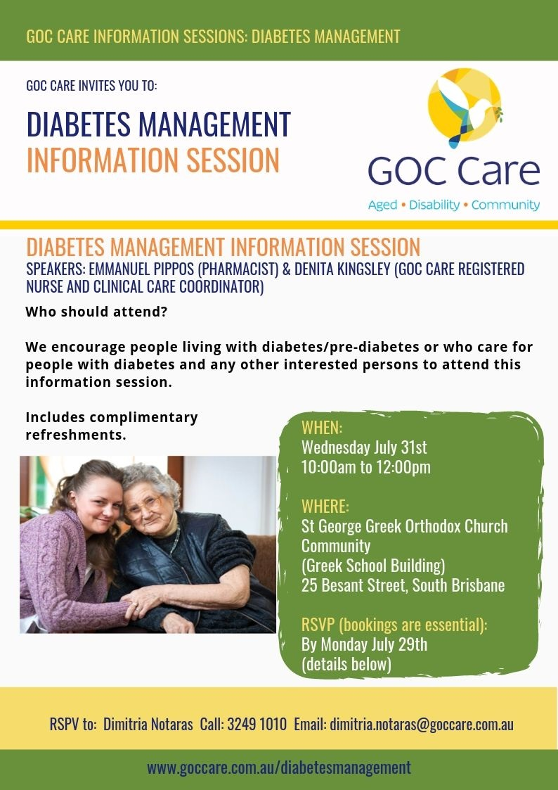 Diabetes Management Information Session